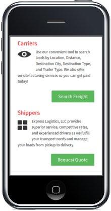 Mobile Responsive Design - Mobile customer panel